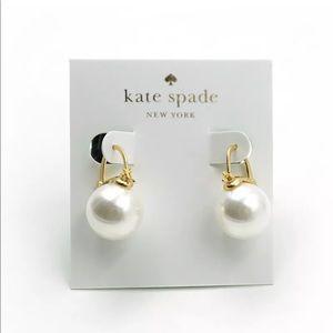 💎 NEW Kate Spade White Pearl Drop Earrings NWOT